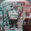 Stock Photo: Broadway and 5th New York 3D anaglyph