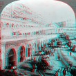 Stock Photo: Barbary Pirates Stronghold 3D anaglyph