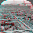Stock Photo: Chicago Stockyards 3D anaglyph