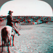 Stock Photo: Cowboy cattle ranch Kansas