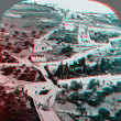 Stock Photo: Gethsemane above Mt Olive Palestine 3D anaglyph