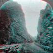 Stock Photo: Grand Canyon Royal Gorge 3D anaglyph
