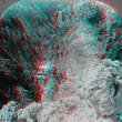 Grand Canyon Yellowstone river 3D anaglyph — Stock Photo