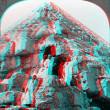 Great pyramid steps climbing 3D anaglyph — Stock Photo #40385589