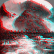 Stock Photo: Hardanger Norway 3D anaglyph