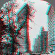 Flatiron Building New York Skyscraper 3D anaglyph — Stock Photo #40385631