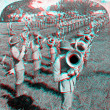 Kentucky Volunteers Horns Band 3D anaglyph — Stock Photo #40385781