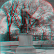 Stock Photo: Abe Lincoln Statue 3D anaglyph Chicago