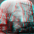 Stock Photo: Independence Hall 3D anaglyph