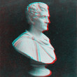 Stock Photo: Elder Booth Statue 3D anaglyph