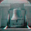 Stock Photo: Liberty Bell 3D anaglyph