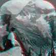 Stock Photo: Mount Sir Donald British ColombiCanad3D anaglyph