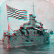 Stock Photo: USS Oregon 3D anaglyph