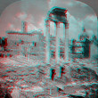 Stock Photo: Rome Italy Forum 3D anaglyph