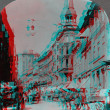 Stock Photo: Round Tower Denmark 3D anaglyph