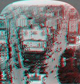 Broadway and 5th New York 3D anaglyph — Stock Photo