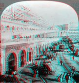Barbary Pirates Stronghold 3D anaglyph — Stock Photo