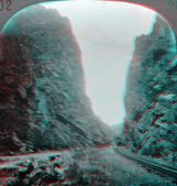 Grand Canyon Royal Gorge 3D anaglyph — Stock Photo