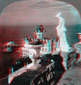 Cliff House 3D anaglyph — Stock Photo