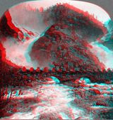 Hardanger Norway 3D anaglyph — Stock Photo