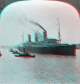 Great Steamship Liviathan Vaterland 3D anaglyph — Stock Photo