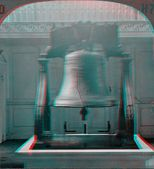 Liberty Bell 3D anaglyph — Stock Photo
