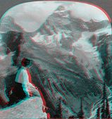 Mount Sir Donald British Colombia Canada 3D anaglyph — Stock Photo