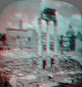 Rome Italy Forum 3D anaglyph — Stock Photo