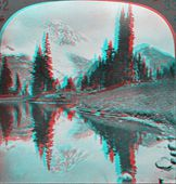 Mount Ranier 3D anaglyph — Stock Photo