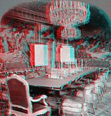 Royal Palace Sweden 3D anaglyph — Stock Photo