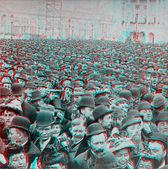 Sea of Humanity columbian Exposition 1893 — Stock Photo