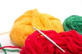 Yarn and knitting — Stock Photo