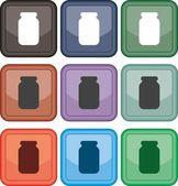 Jar, icon, vector — Stock Vector