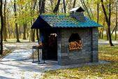 дом для барбекю — Стоковое фото