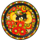 Modern art - colorfully painted souvenir plate — ストック写真