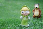 Masha, un ours - personnages de dessins animés — Photo