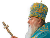 Blessing of Metropolitan. Priest with a cross. — Stock Photo