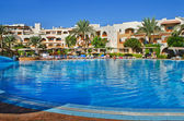 Exotic nature. Egypt Africa Sinai. The pool at the hotel in Sharm El Sheikh. — Stock Photo