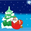 Christmas tree with Santa Claus. — Stock Vector #15408779
