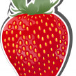Royalty-Free Stock Vector Image: Strawberry Fruit Icon.
