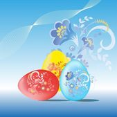 Painted easter eggs. — Stock Vector