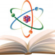 Stock Vector: Molecule and open book.