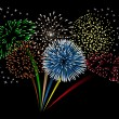 Stock Vector: Beautiful fireworks.