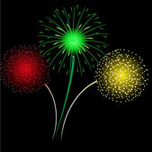 Multicolored fireworks. — Stock Vector