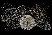 Fireworks on a black background. — Wektor stockowy