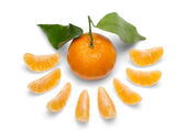 Tangerine fruits. — Stock Photo