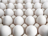 Eggs of a hen in cardboard packing. — Stock Photo