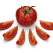 Ripe, red tomato. — Stock Photo #17163189