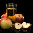Apples and apple juice — Stock Photo