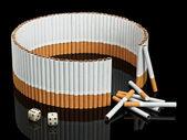 Inte avslutade skydd från cigaretter — Stockfoto